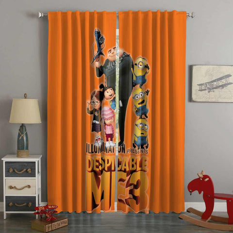 3D Printed Despicable Me 3 Style Custom Living Room Curtains