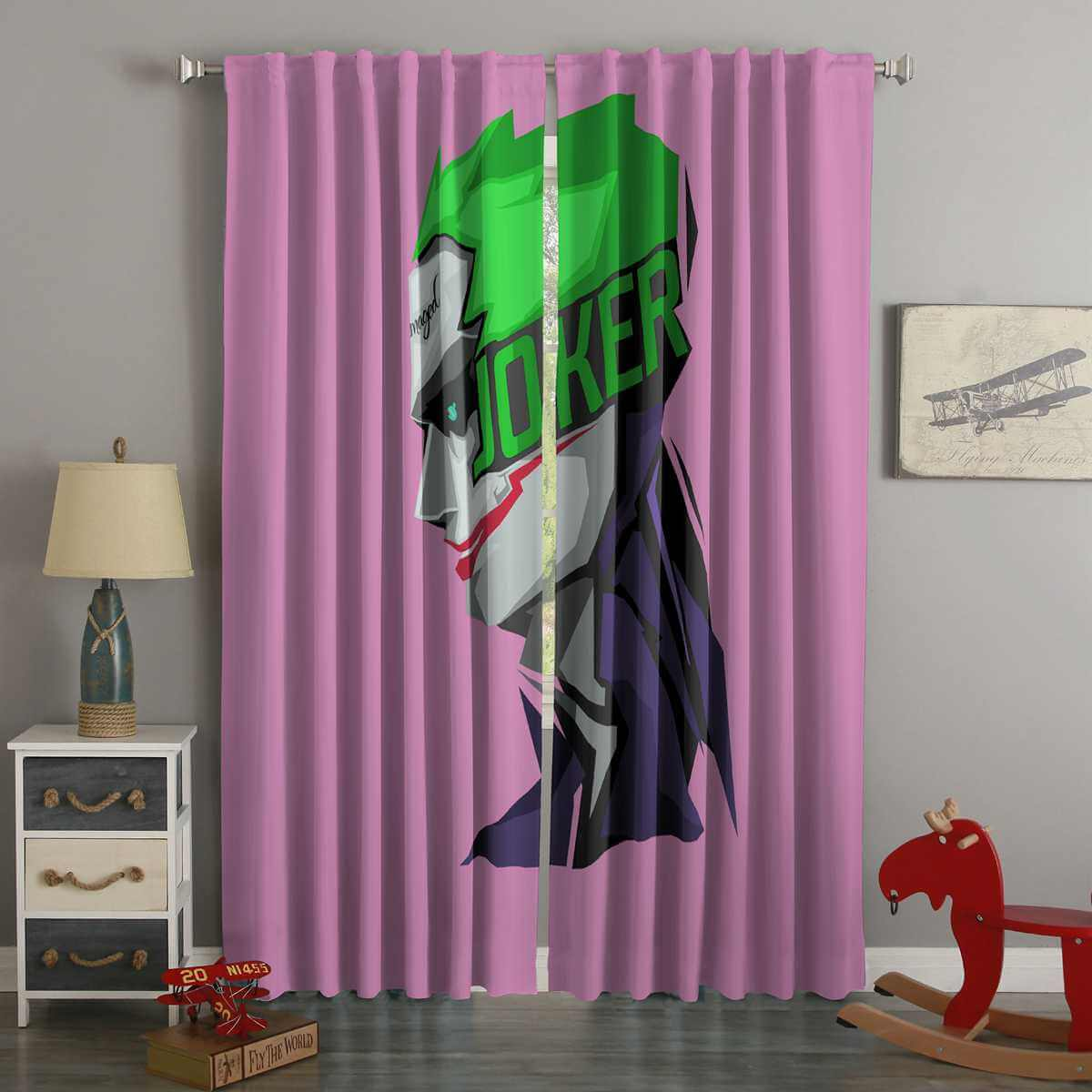3D Printed Joker Style Custom Living Room Curtains