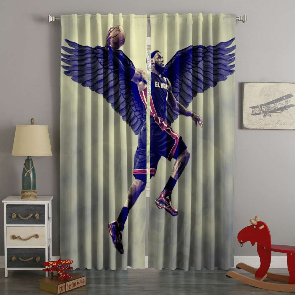 3D Printed Lebron James Style Custom Living Room Curtains