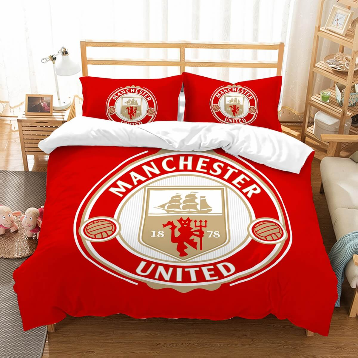 3D Customize Manchester United F.C. Bedding Set Duvet Cover Set Bedroom Set Bedlinen