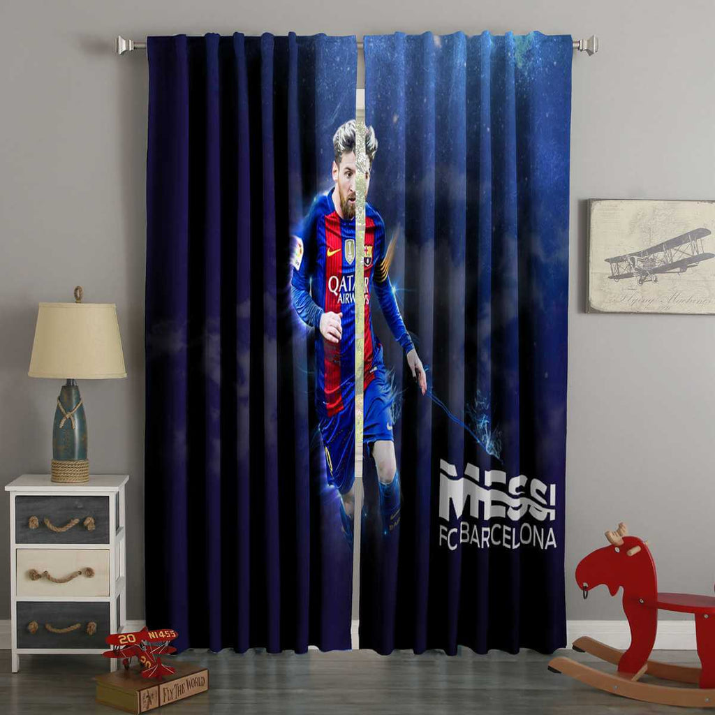 3D Printed Lionel Messi Style Custom Living Room Curtains