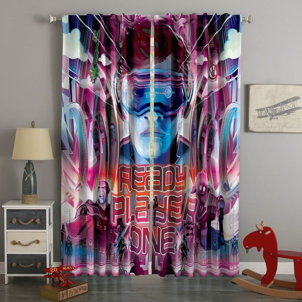 3D Printed Ready Player One Style Custom Living Room Curtains