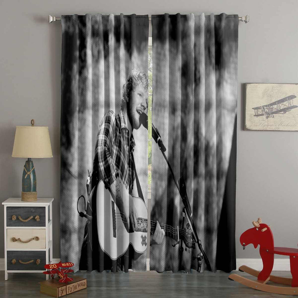 3D Printed Ed Sheeran Style Custom Living Room Curtains