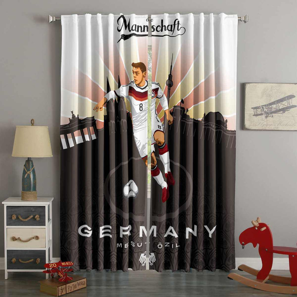 3D Printed FIFA World Cup Russia 2018 Germany Mesut Ozil Style Custom Living Room Curtains