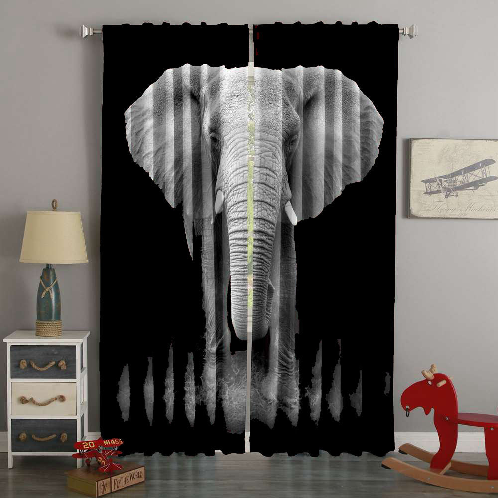 3D Printed Elephant Style Custom Living Room Curtains