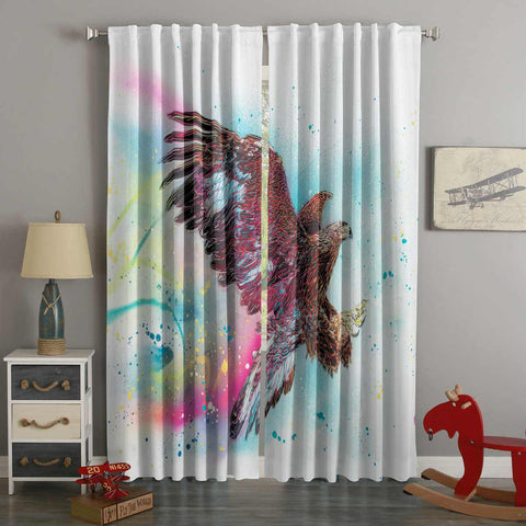 3D Printed Eagle Style Custom Living Room Curtains