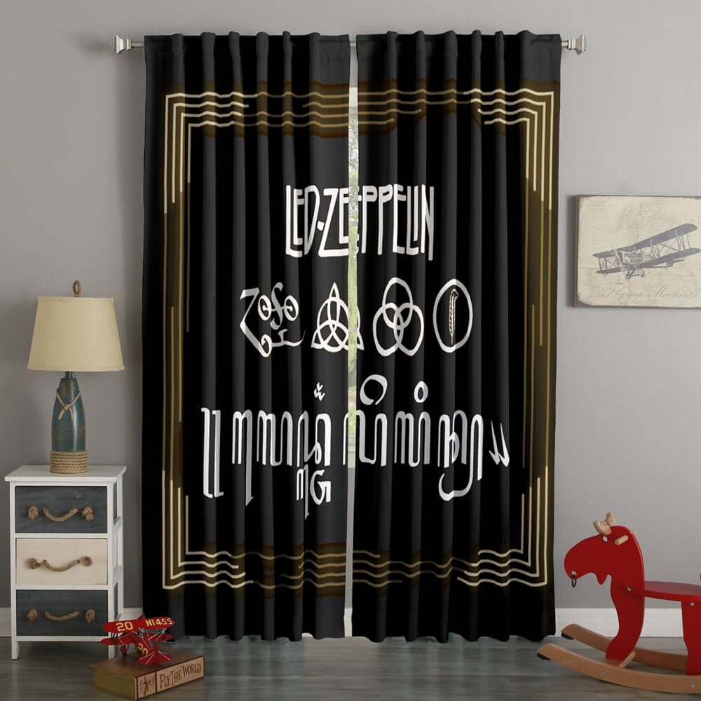 3D Printed Led Zeppelin Style Custom Living Room Curtains