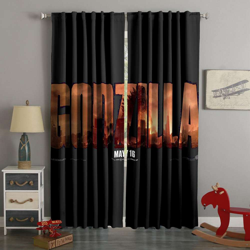 3D Printed Godzilla Style Custom Living Room Curtains