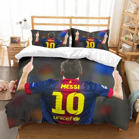 3D Customize Lionel Messi Bedding Set Duvet Cover Set Bedroom Set Bedlinen