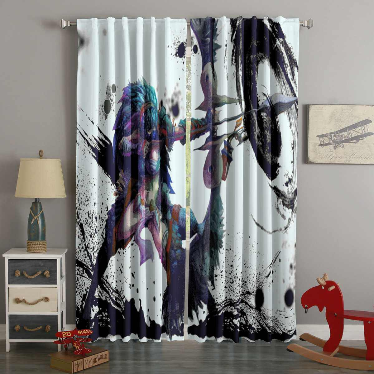 3D Printed Monster Hunter World Style Custom Living Room Curtains
