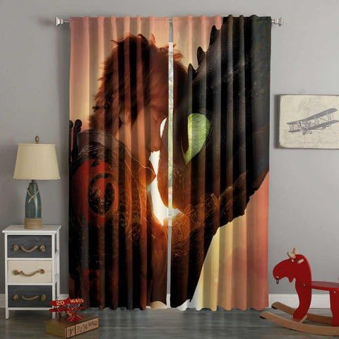 3D Printed How to Train Your Dragon 3 Style Custom Living Room Curtains