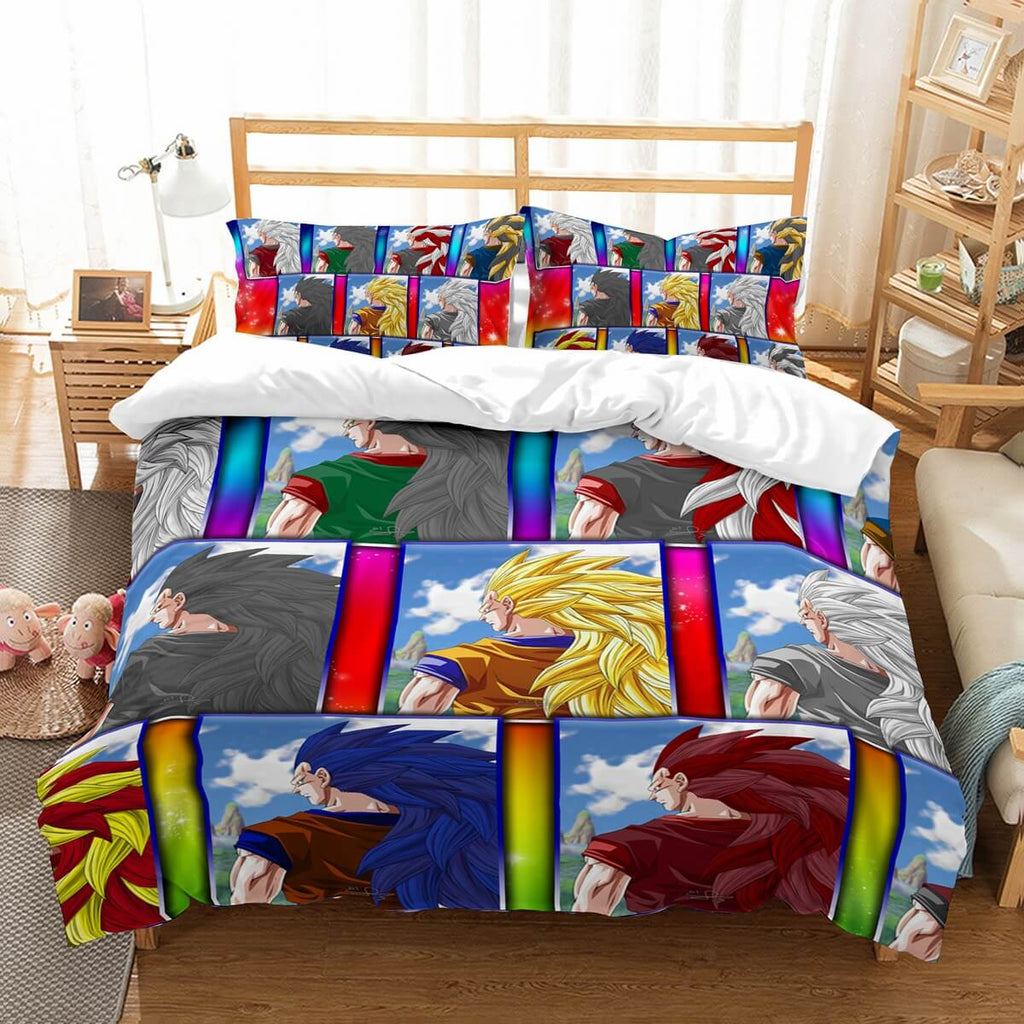 3D Customize Dragon Ball Bedding Set Duvet Cover Set Bedroom Set Bedlinen