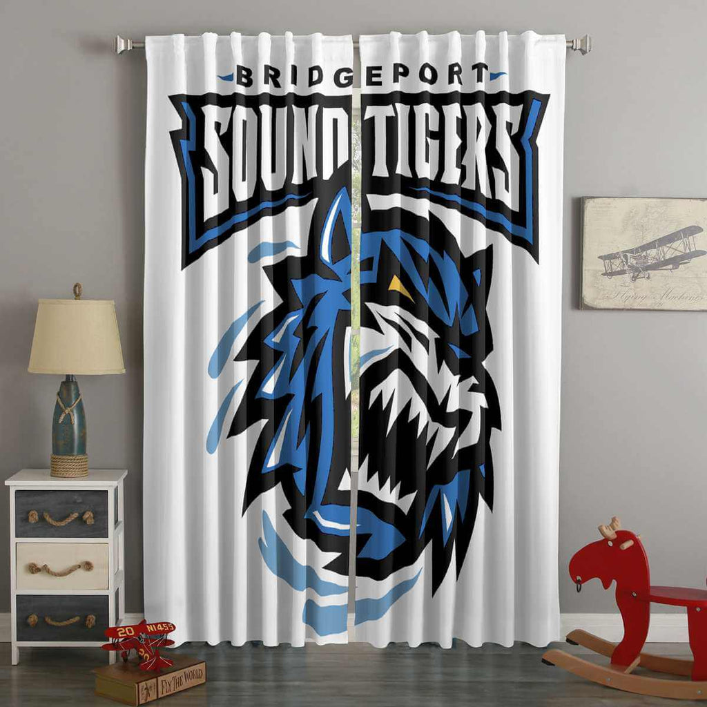3D Printed Bridgeport Sound Tigers Style Custom Living Room Curtains