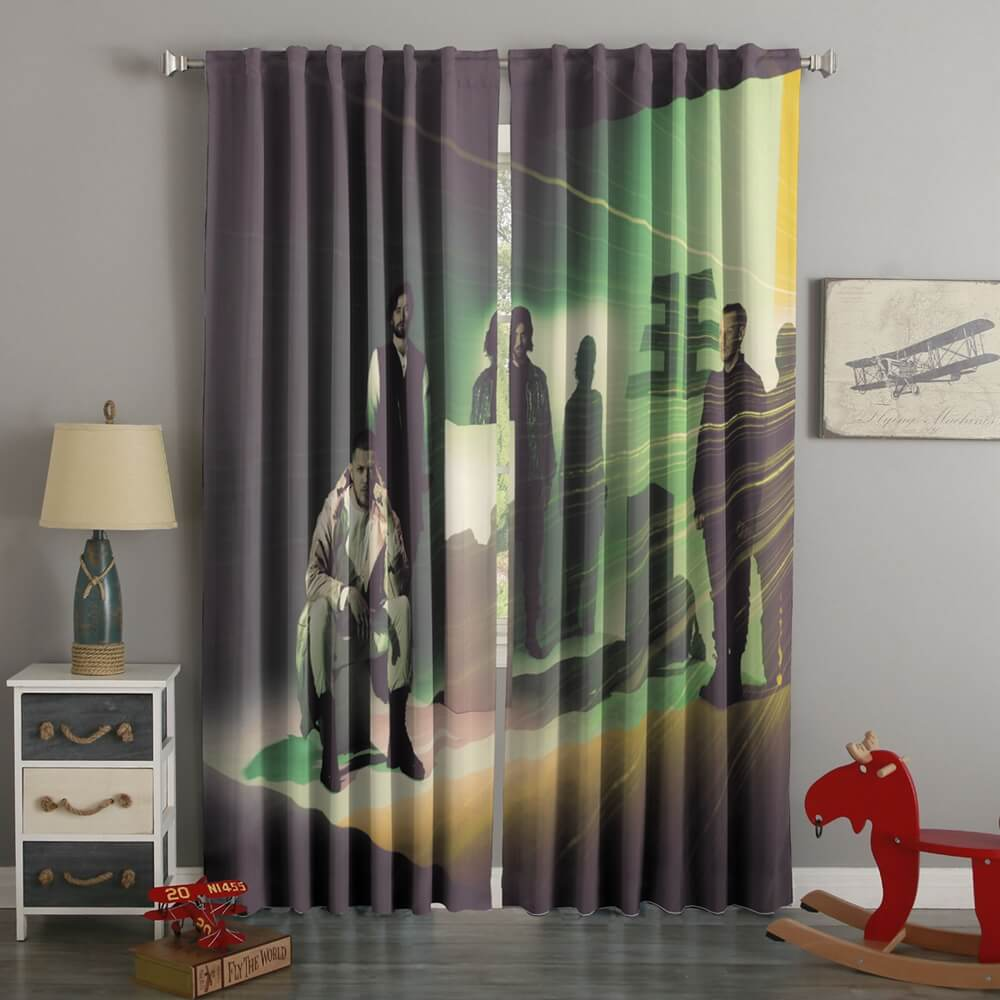 3D Printed Imagine Dragons Style Custom Living Room Curtains