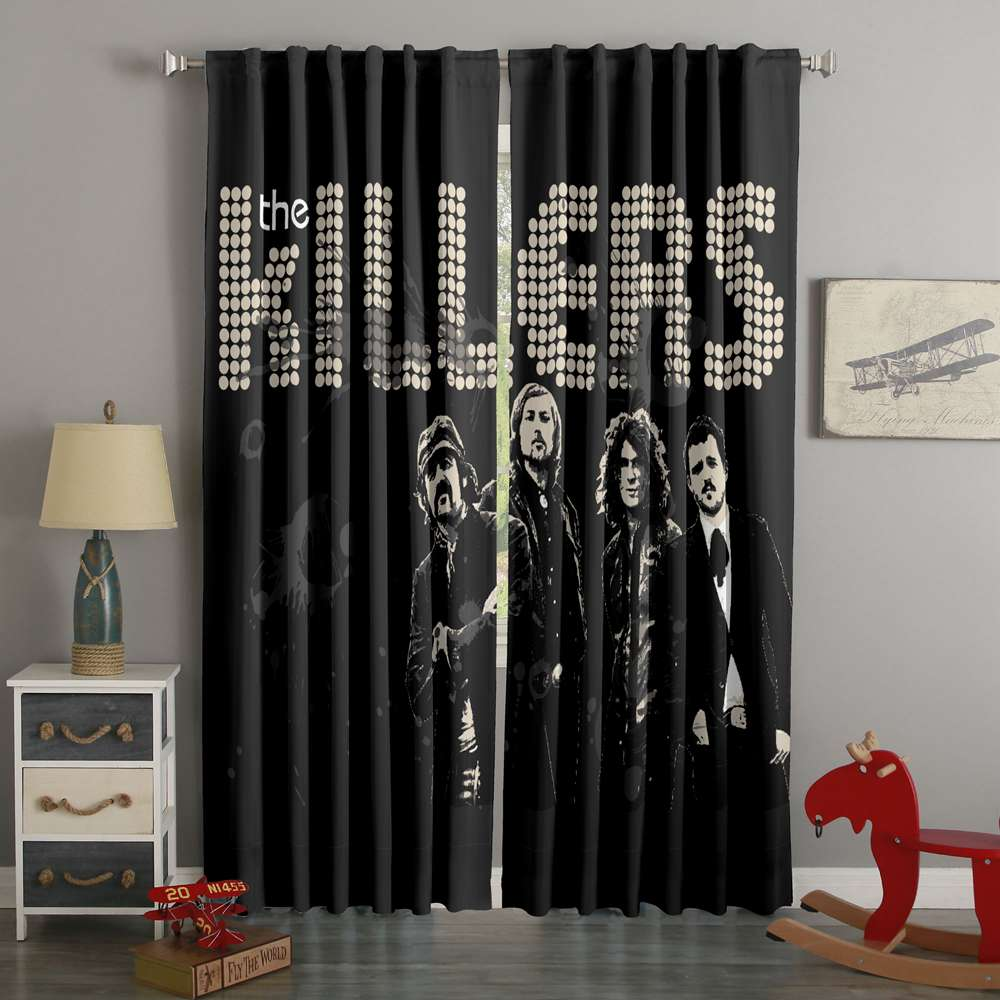 3D Printed The Killers Style Custom Living Room Curtains