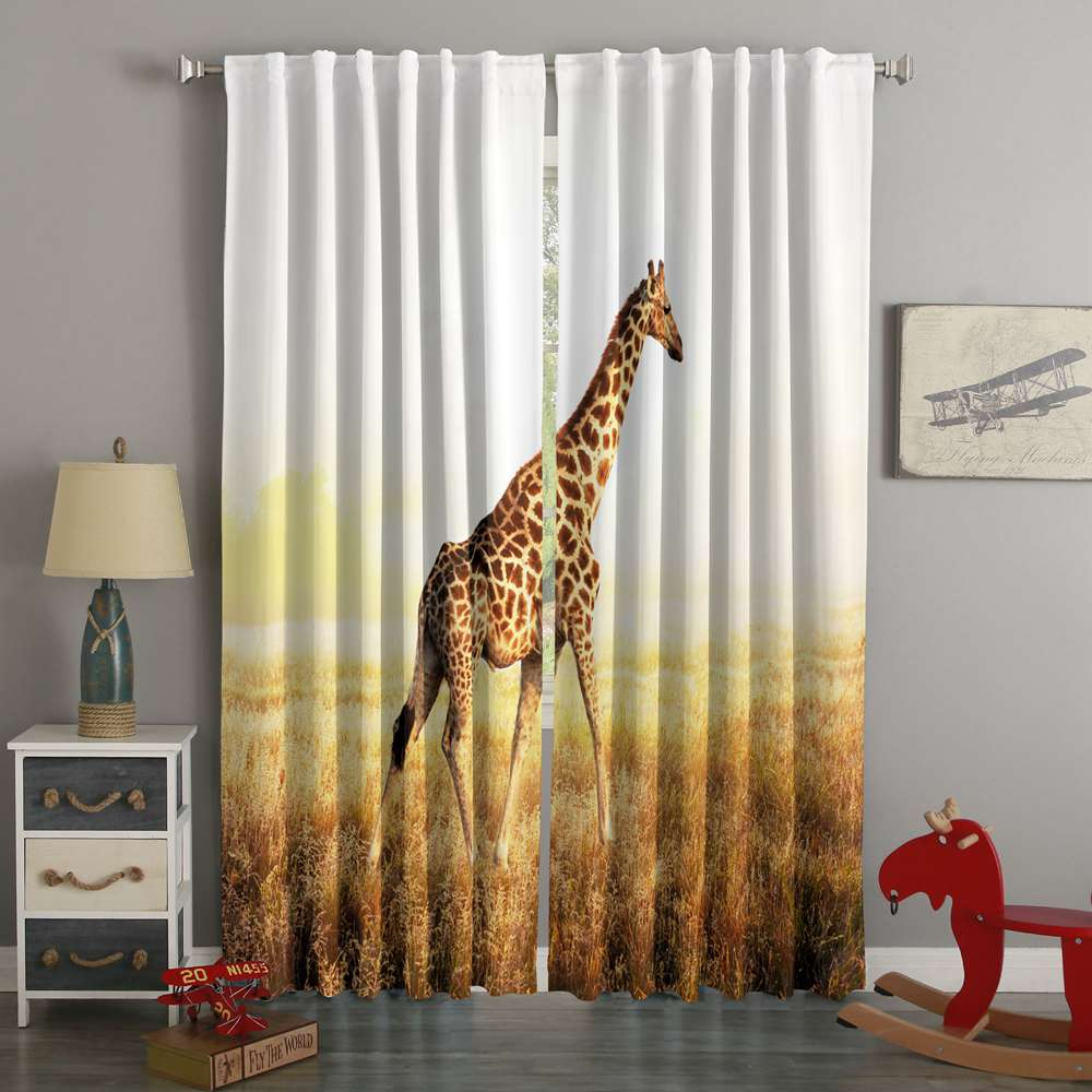 3D Printed Giraffe Style Custom Living Room Curtains
