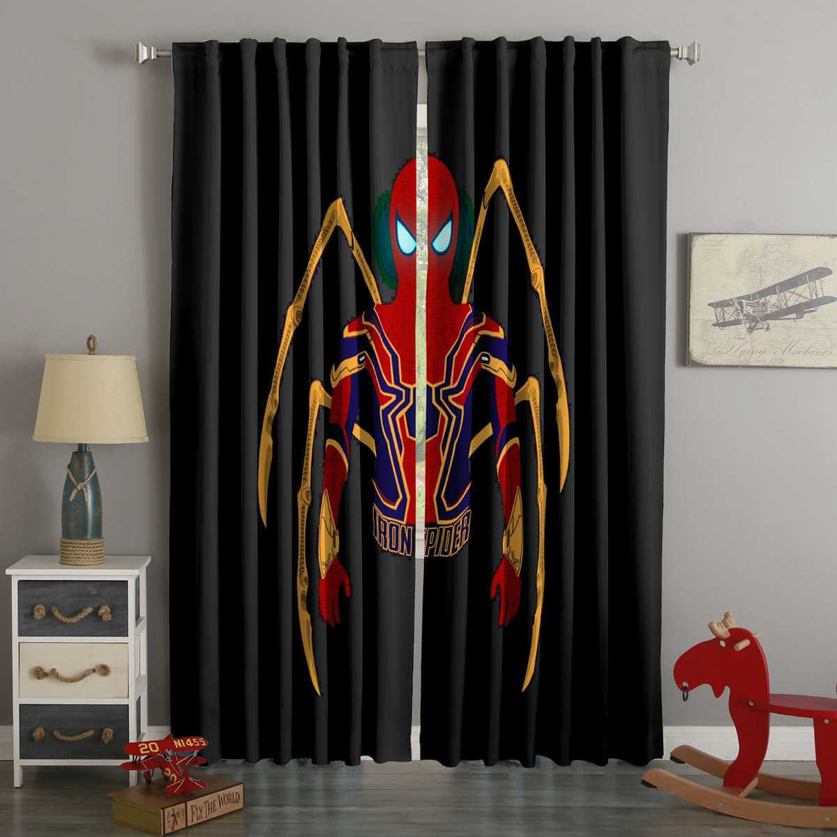 3D Printed Spider Man Style Custom Living Room Curtains