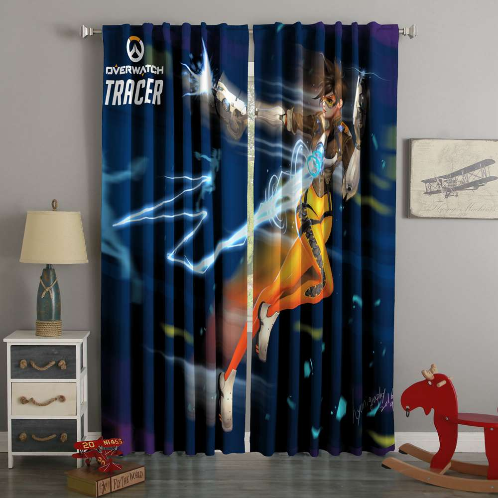3D Printed Overwatch Tracer Style Custom Living Room Curtains