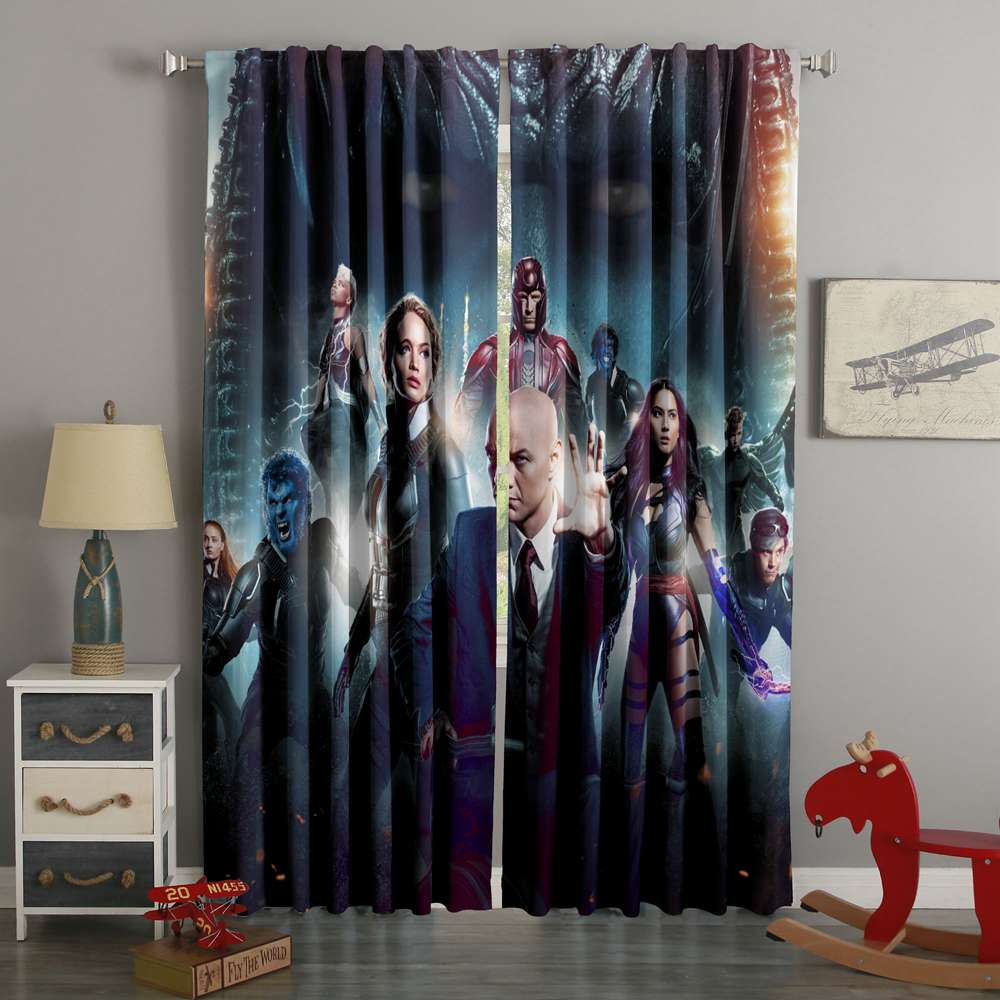 3D Printed X-Men Apocalypse Style Custom Living Room Curtains