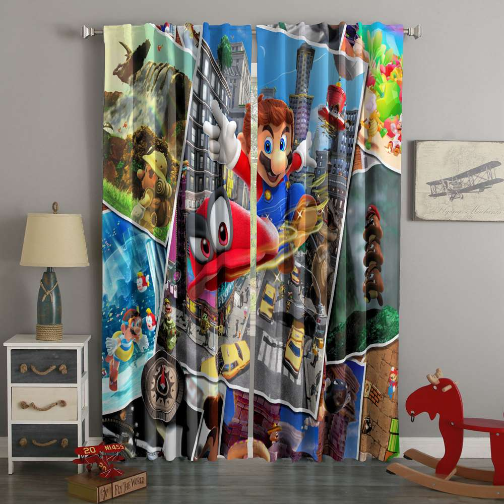 3D Printed Super Mario Odyssey Style Custom Living Room Curtains