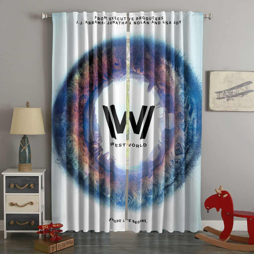 3D Printed Westworld Style Custom Living Room Curtains