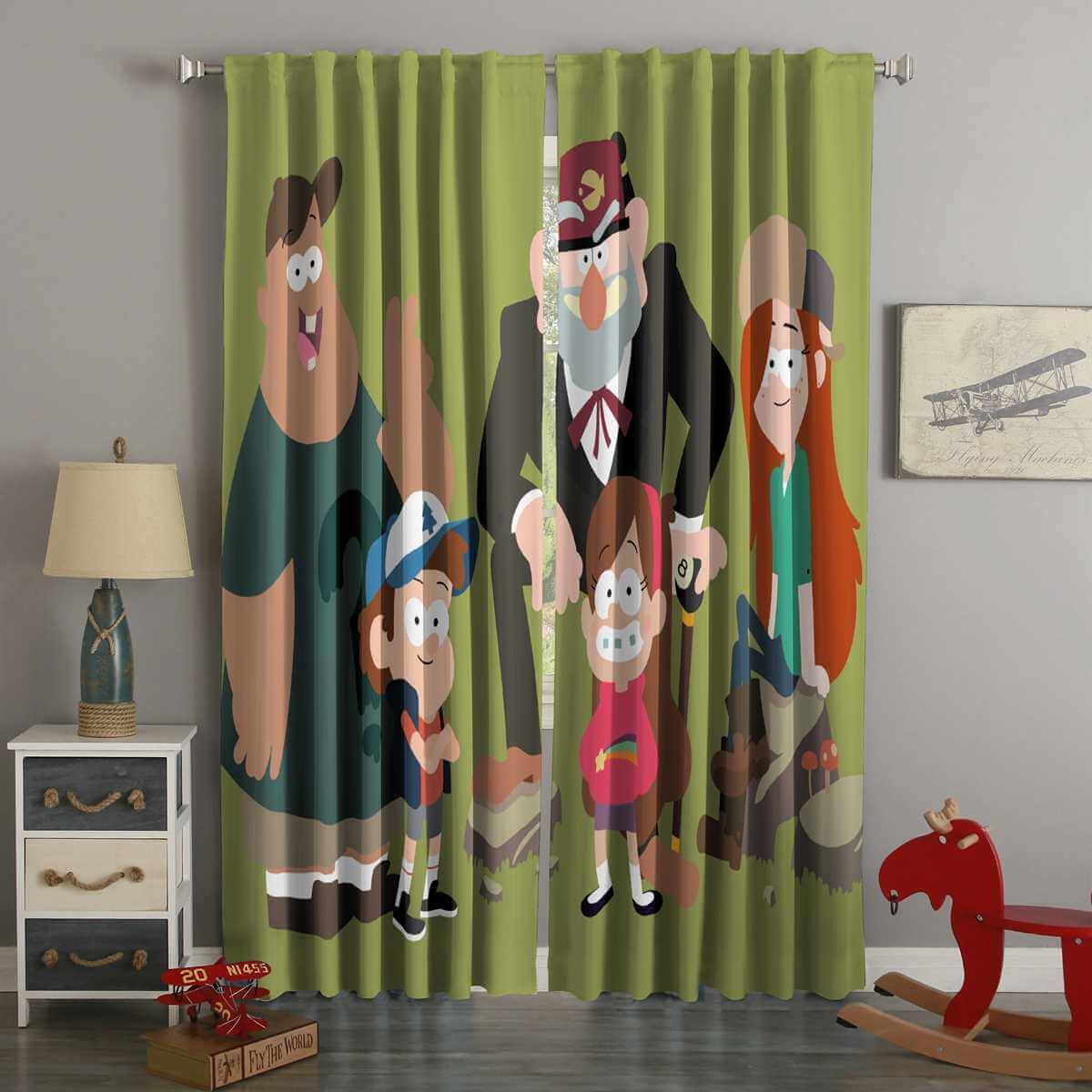3D Printed Gravity Falls Style Custom Living Room Curtains