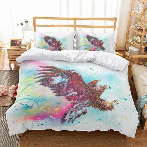 3D Customize Eagle Bedding Set Duvet Cover Set Bedroom Set Bedlinen