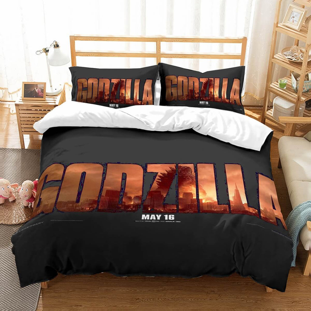 3D Customize Godzilla Bedding Set Duvet Cover Set Bedroom Set Bedlinen