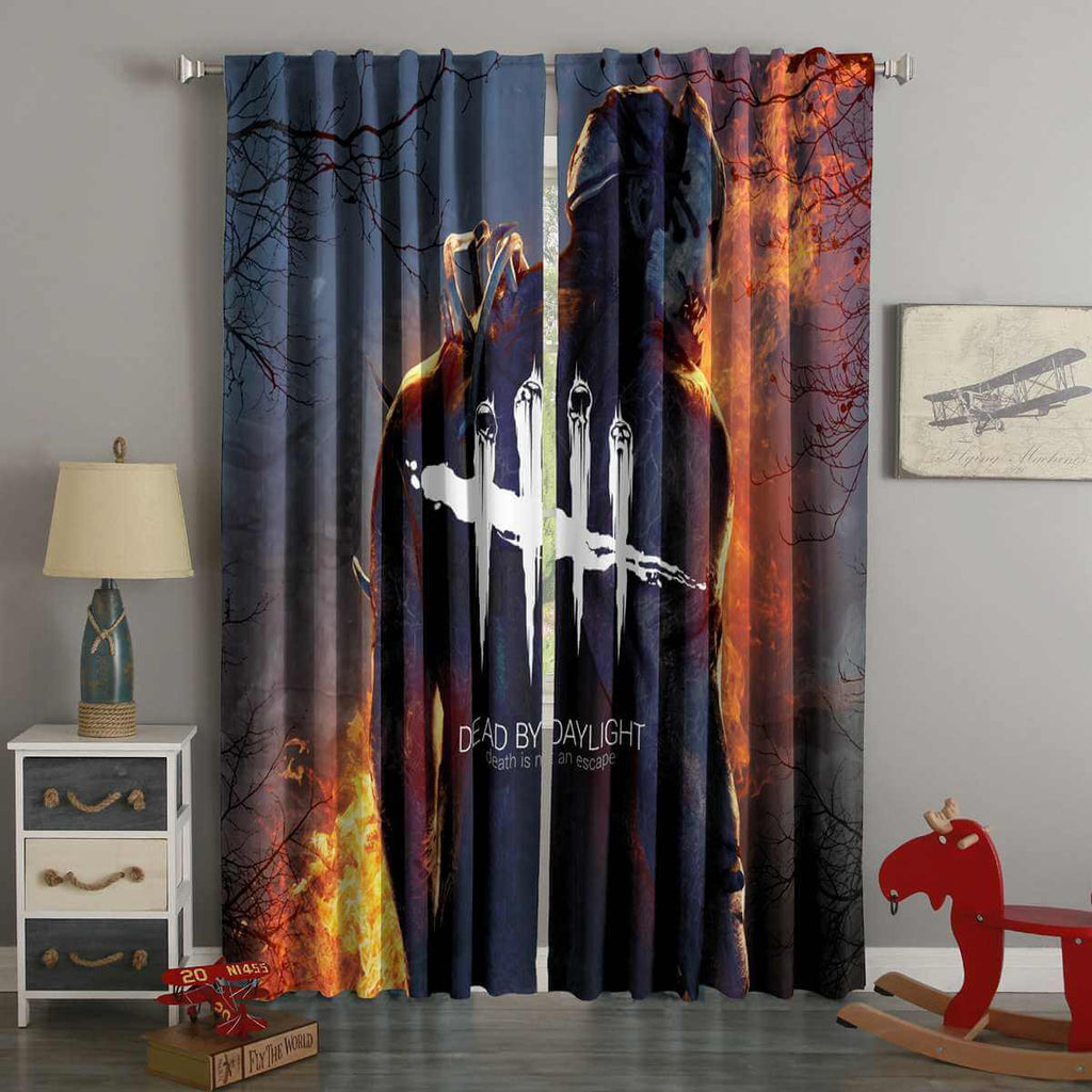 3D Printed Dead by Daylight Style Custom Living Room Curtains