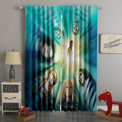 3D Printed A Wrinkle In Time Style Custom Living Room Curtains