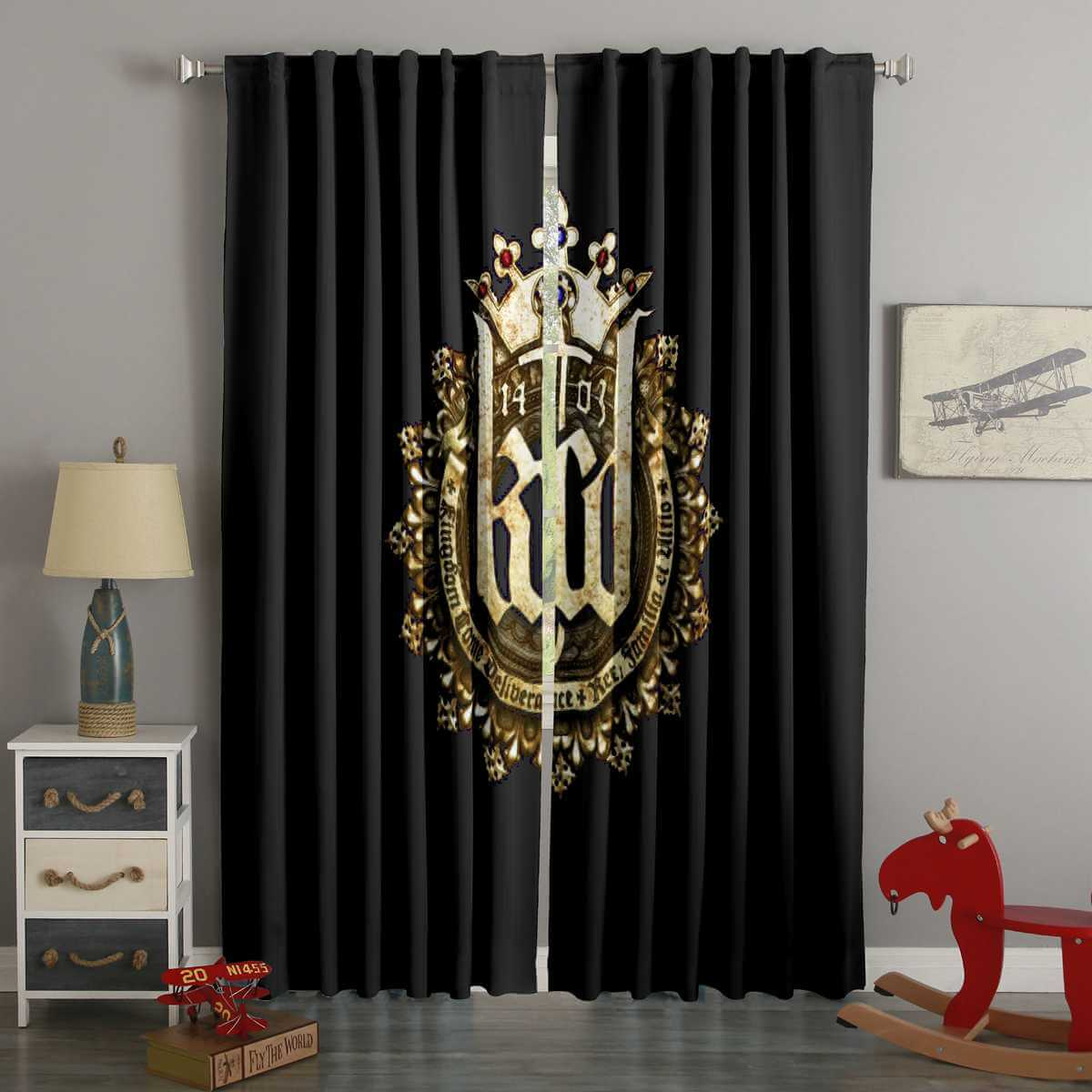 3D Printed Kingdom Come Deliverance Style Custom Living Room Curtains