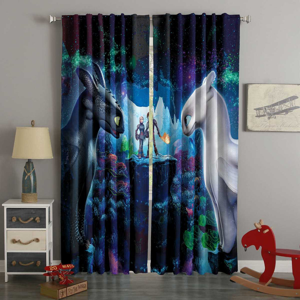 3D Printed How to Train Your Dragon Style Custom Living Room Curtains