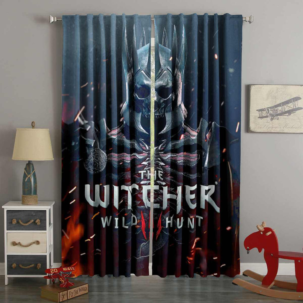 3D Printed The Witcher 3 Wild Hunt Style Custom Living Room Curtains