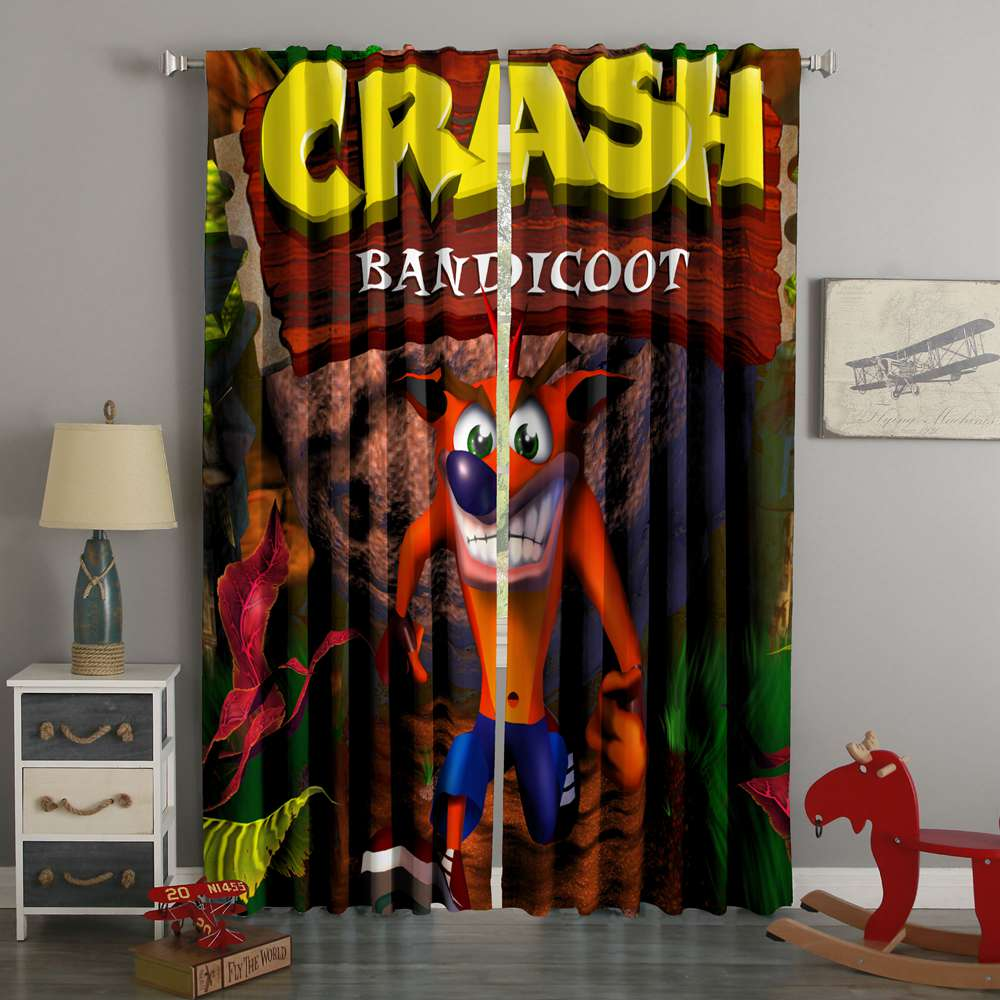 3D Printed Crash Bandicoot Style Custom Living Room Curtains