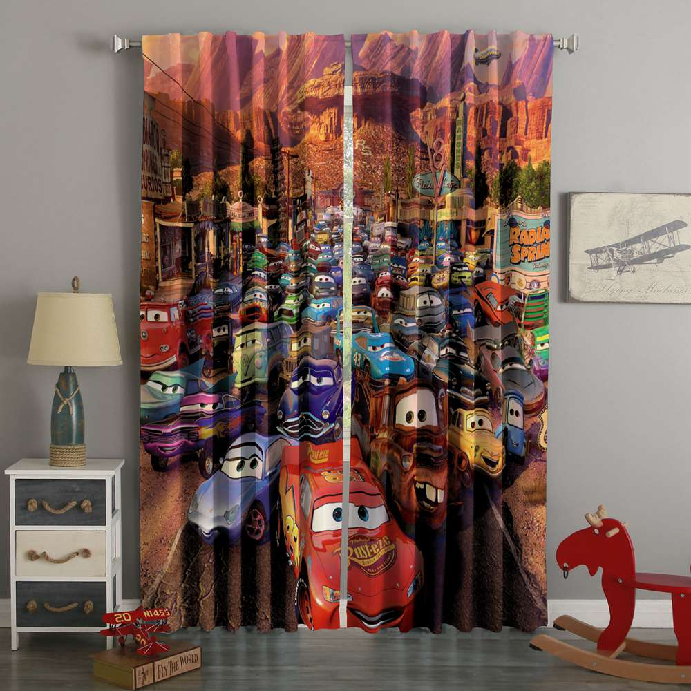 3D Printed Cars Style Custom Living Room Curtains