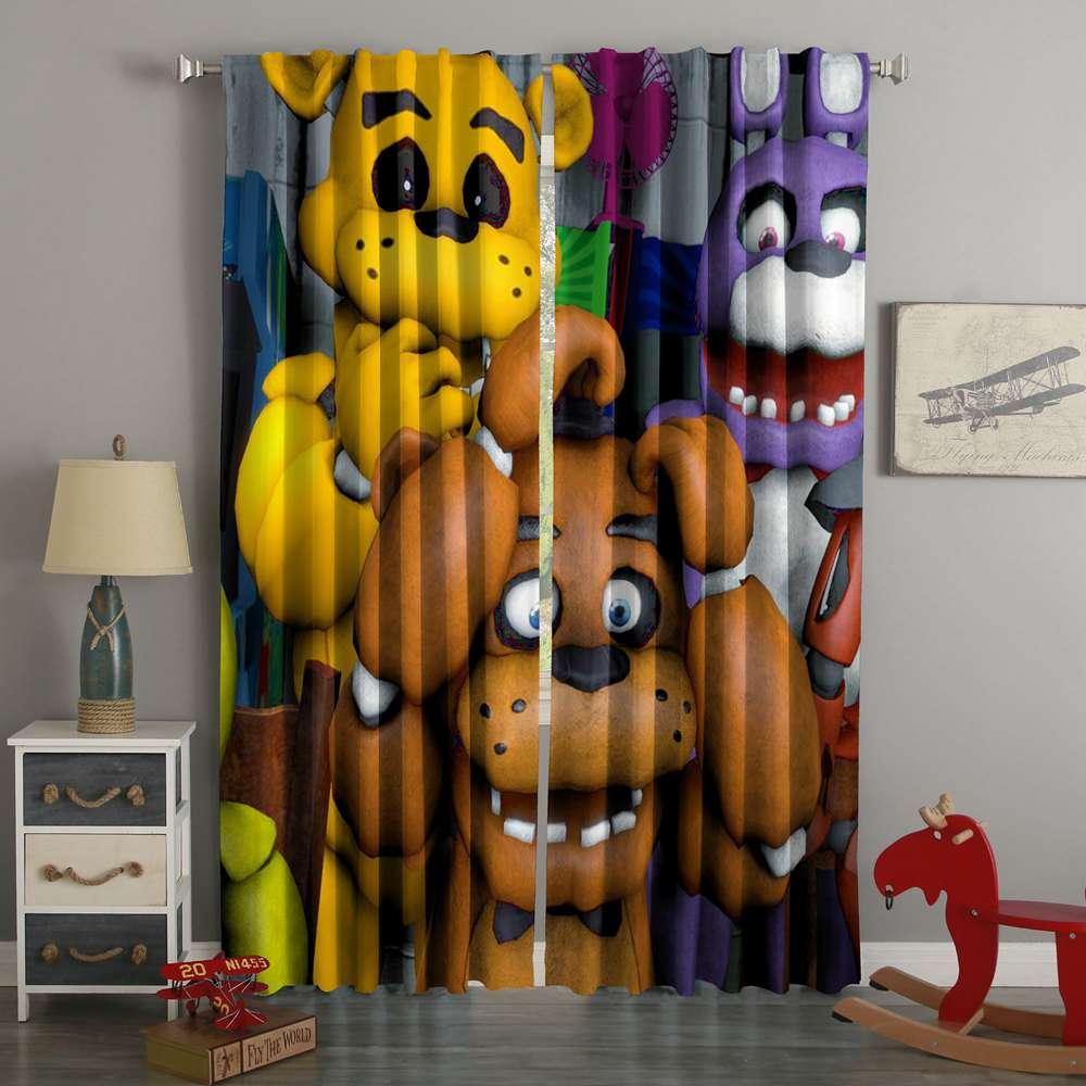 3D Printed Five Nights At Freddy's Custom Living Room Curtains