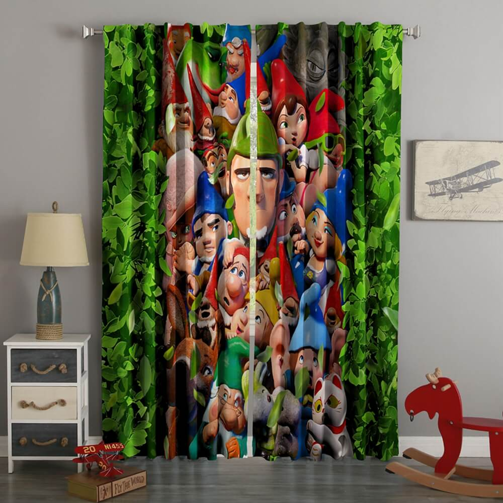 3D Printed Sherlock Gnomes Style Custom Living Room Curtains