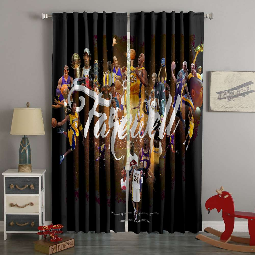 3D Printed Kobe Bryant Style Custom Living Room Curtains