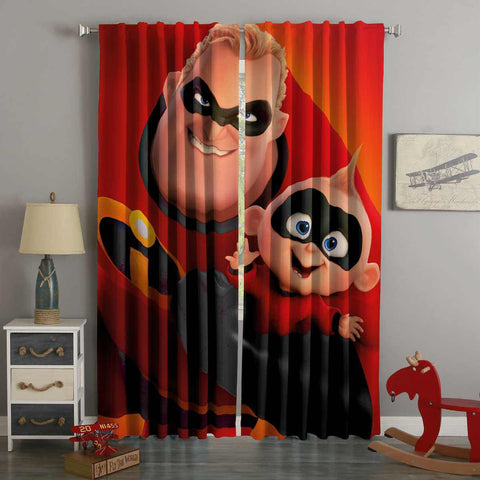 3D Printed Incredibles 2 Style Custom Living Room Curtains