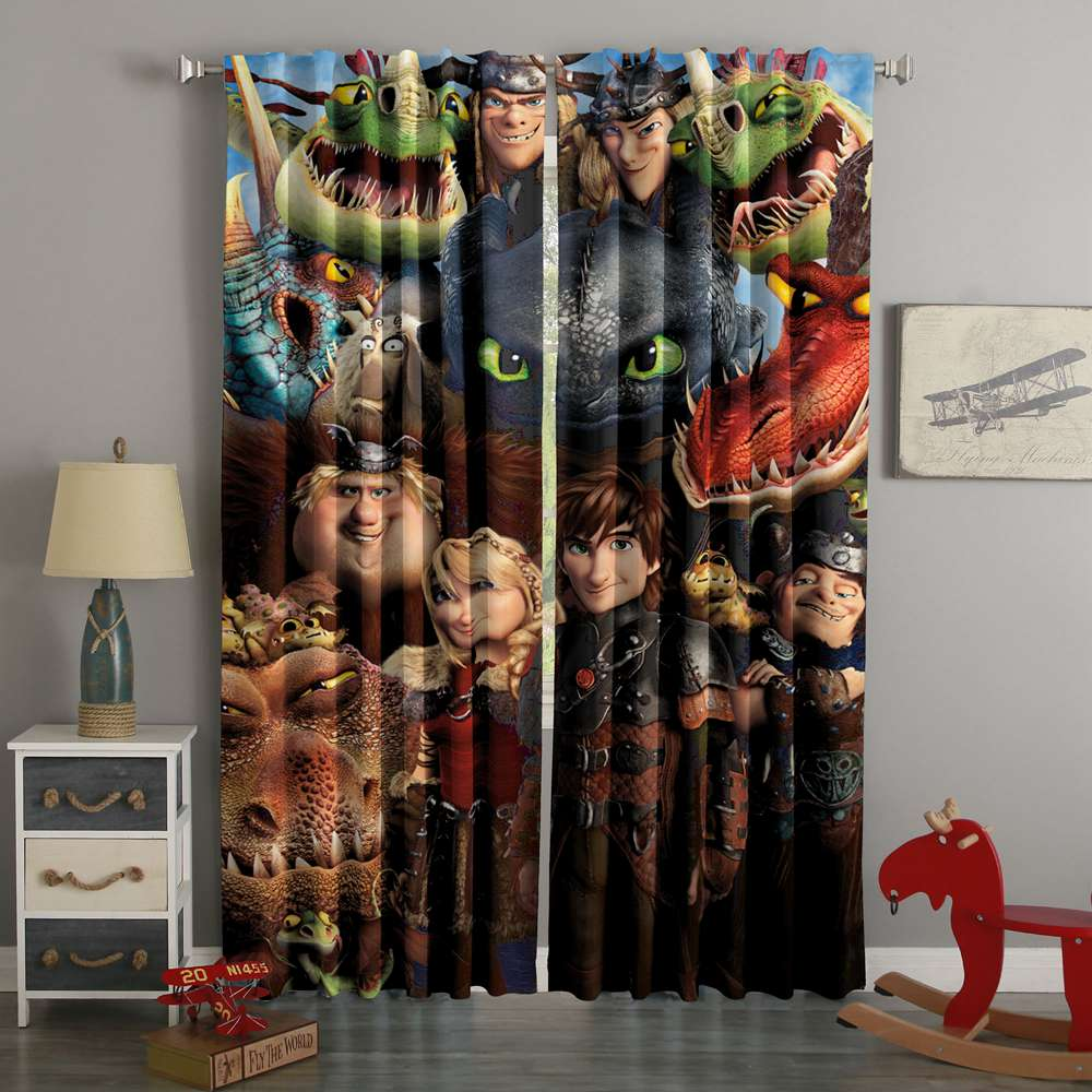 3D Printed How To Train Your Dragon Custom Living Room Curtain