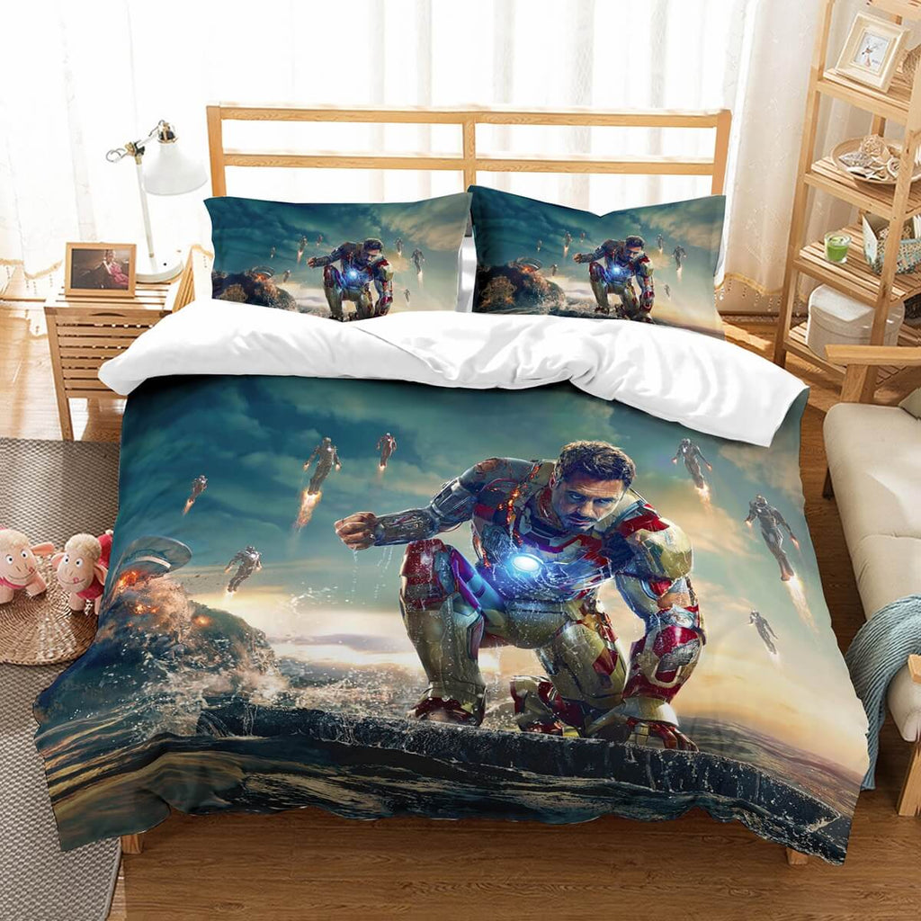 3D Customize Iron Man Bedding Set Duvet Cover Set Bedroom Set Bedlinen