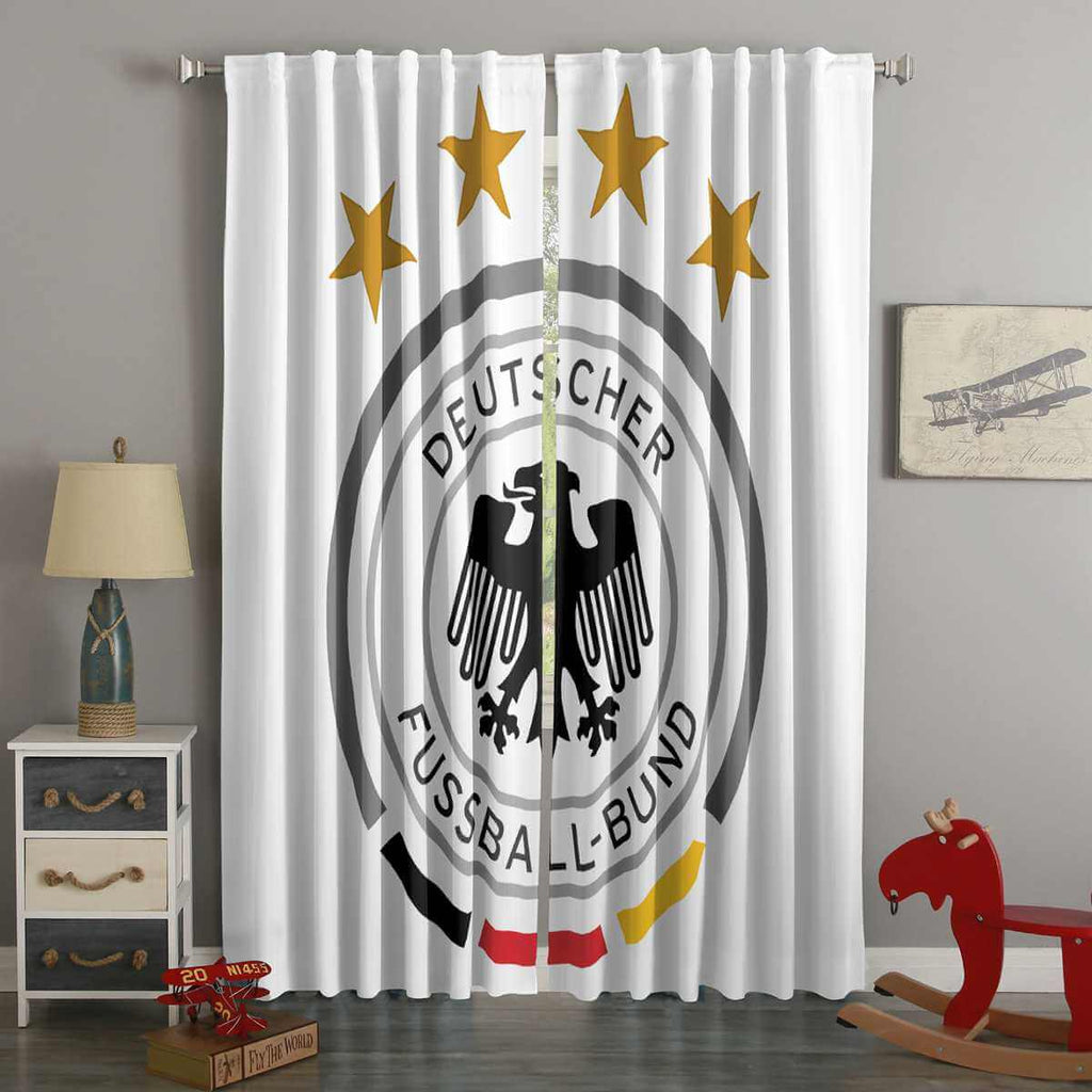 3D Printed FIFA World Cup Russia 2018 Germany Style Custom Living Room Curtains
