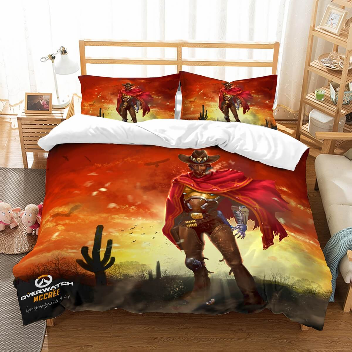 3D Customize Overwatch Mccree Bedding Set Duvet Cover Set Bedroom Set Bedlinen