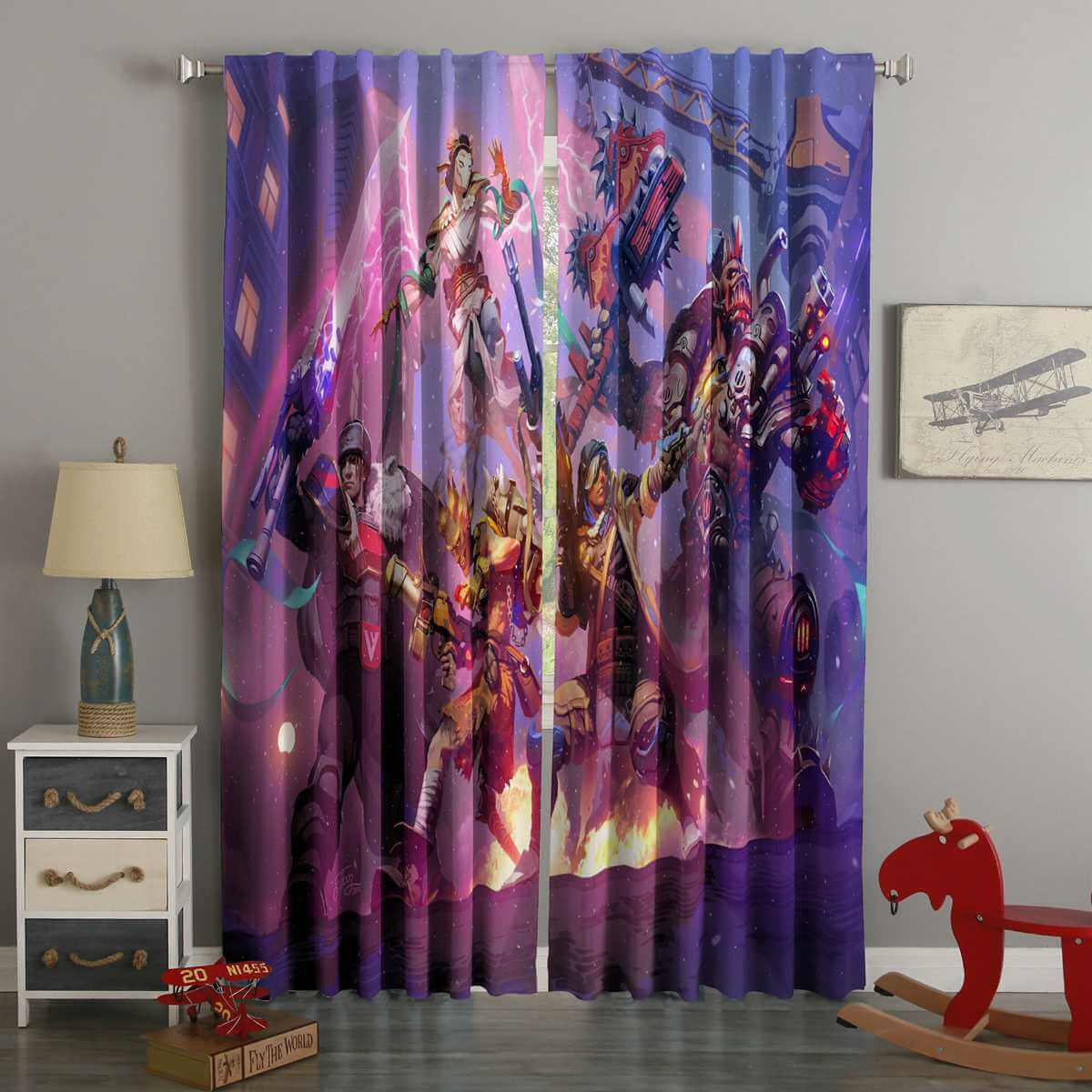 3D Printed Heroes Of The Storm Style Custom Living Room Curtains