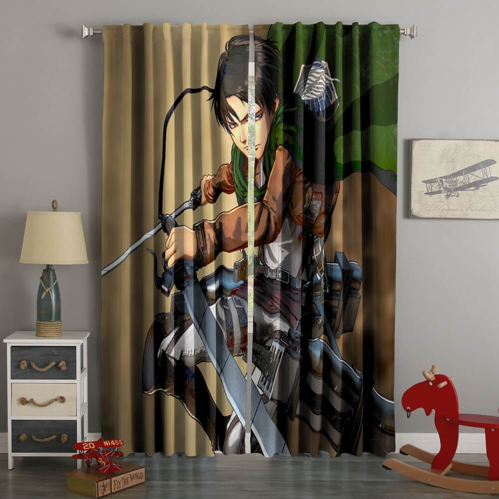 3D Printed Attack On Titan Style Custom Living Room Curtains