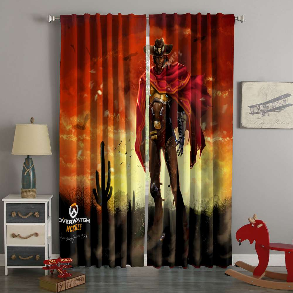 3D Printed Overwatch Mccree Style Custom Living Room Curtains