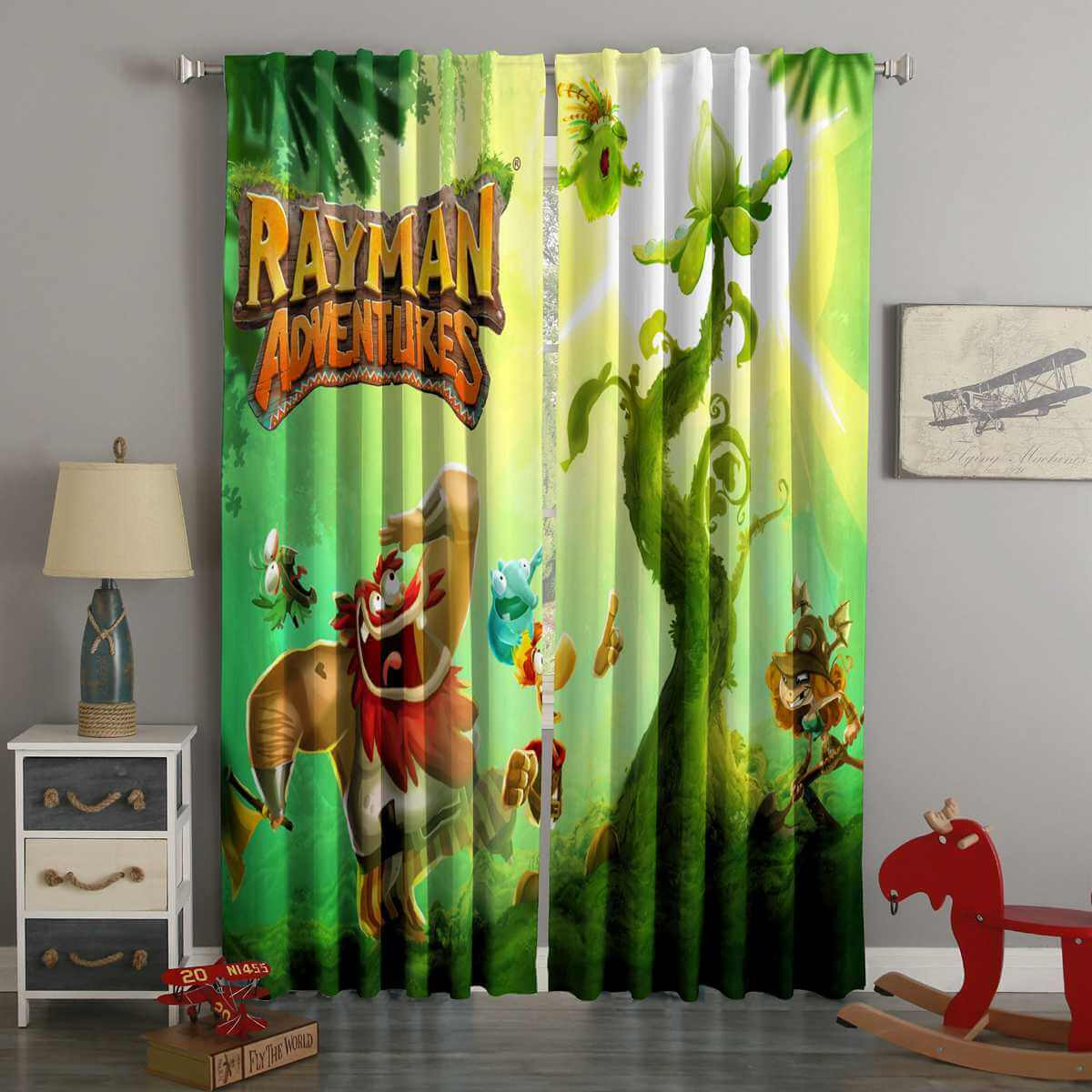 3D Printed Rayman Adventures Style Custom Living Room Curtains