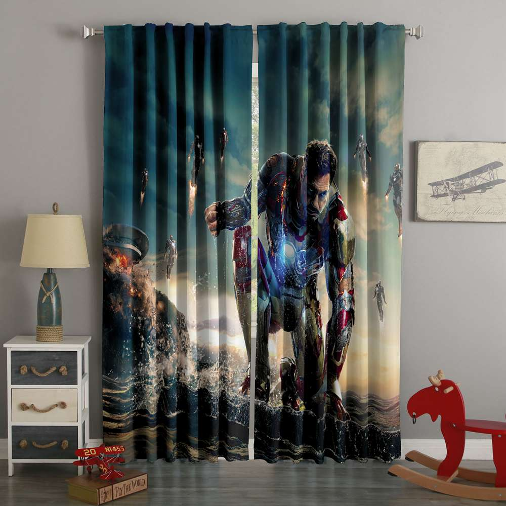 3D Printed Iron Man Style Custom Living Room Curtains