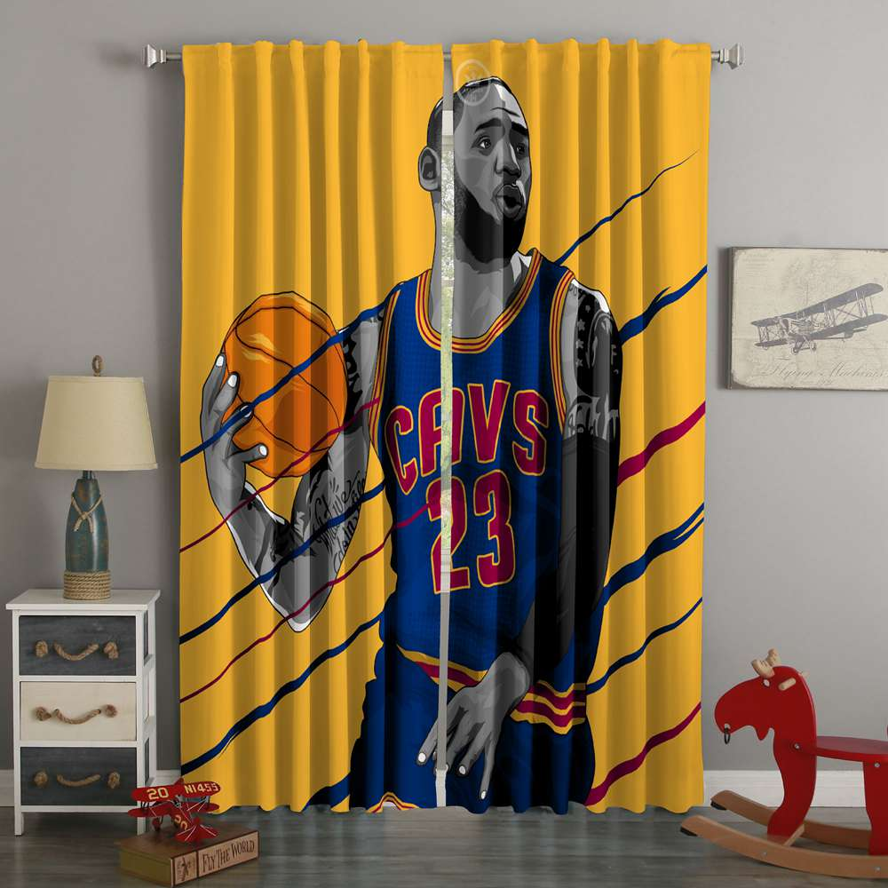 3D Printed LeBron James XV Style Custom Living Room Curtains