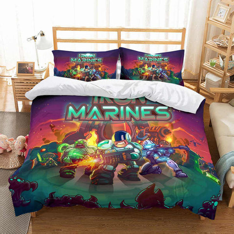 3D Customize Iron Marines Bedding Set Duvet Cover Set Bedroom Set Bedlinen